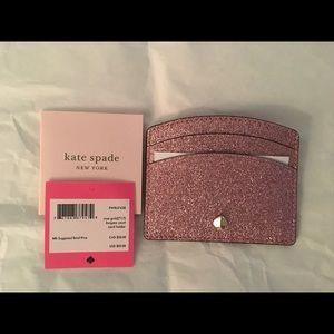 NWT Kate Spade Glitter Card Case